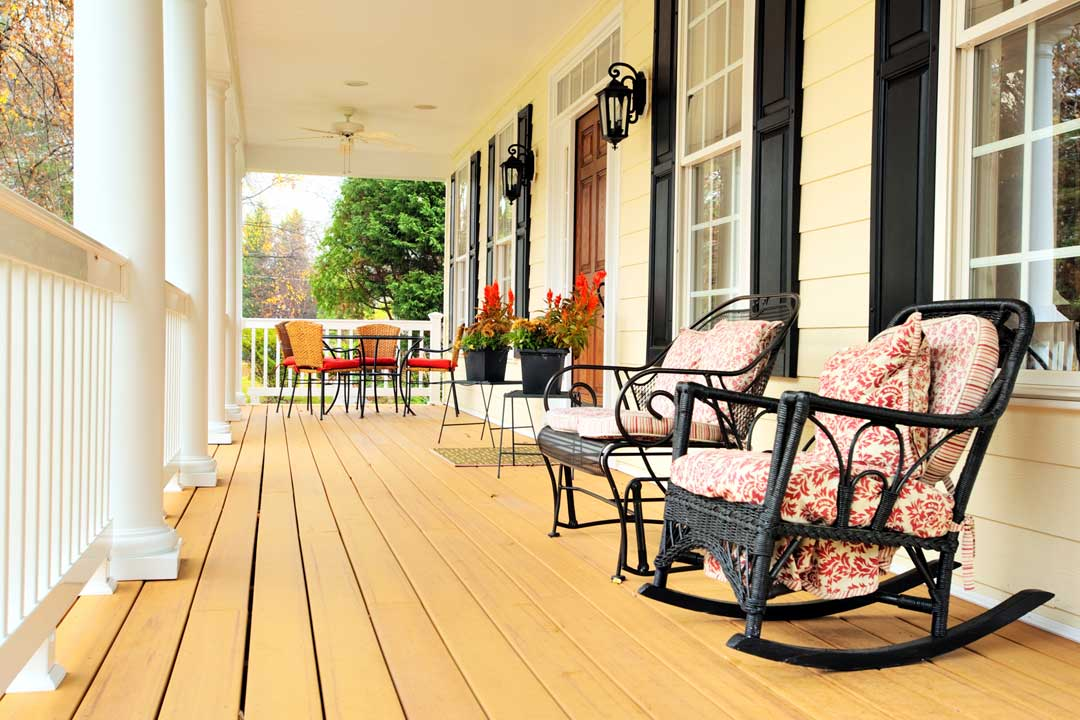 Home Inspection Porch Raleigh North Carolina